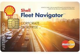 Shell fleet navigator card