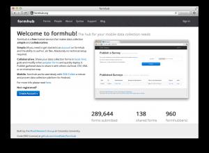 formhub web site