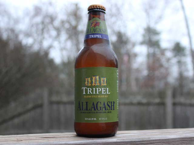 Tripel, a Belgian-Style Golden Ale brewed by Allagash Brewing Company