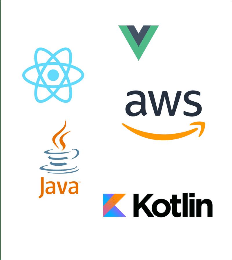 Et utvalg av teknologi-logoer