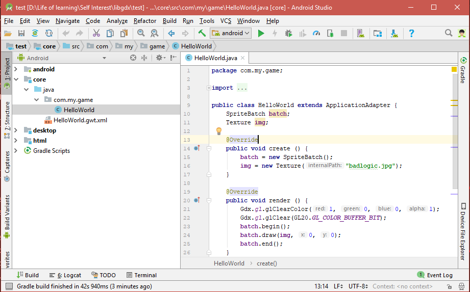 libgdx android studio