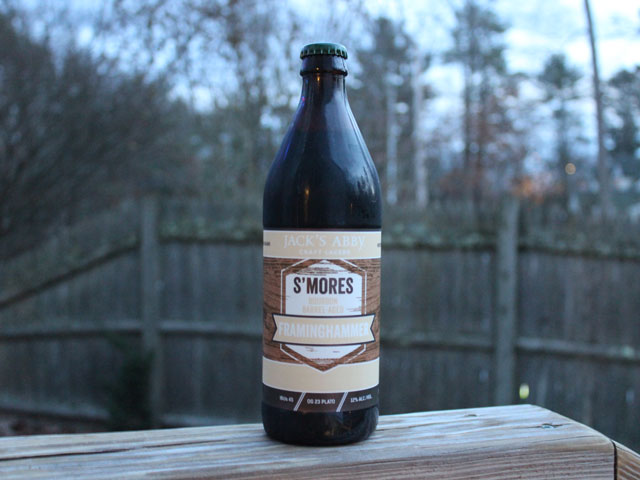 S'Mores Barrel-Aged Framinghammer, a Baltic Porter brewed by Jack's Abby