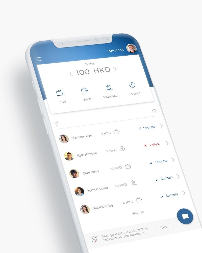 Mobile application for internationl money transfer