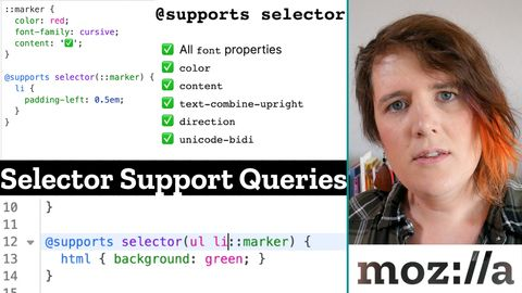 CSS @supports statement