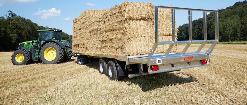 Bale transport trailers