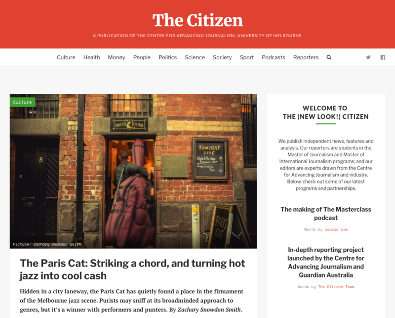 The Citizen homepage