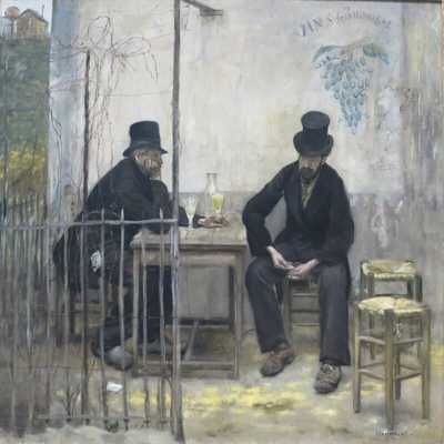 'Les Déclassés' or 'the Absinthe Drinkers' by Raffaëlli, who was also praised by critics and visitors to this exhibition.