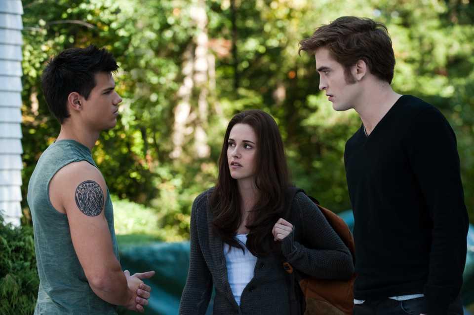 Lautner, Stewart and Pattinson in Twilight