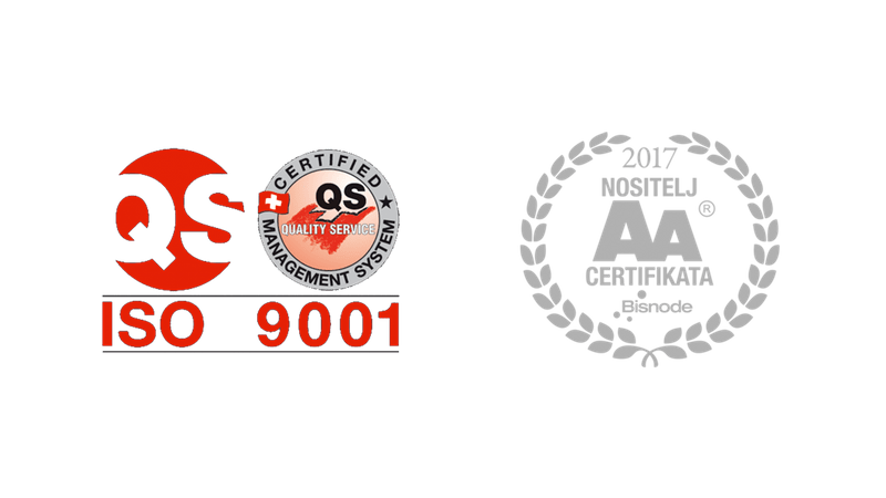 Certifikati kvalitete tvrtke FSB d.o.o. protupožarna zaštita