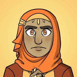Yusra frowns.
