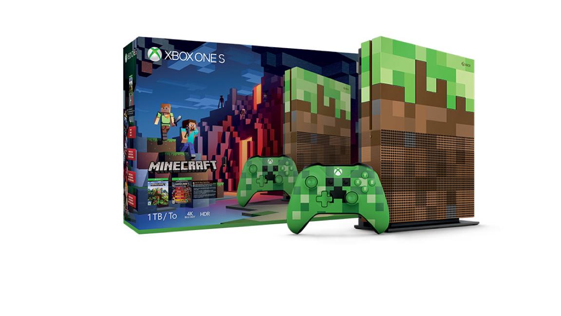 Xbox One S 1TB<br/>Minecraft Limited Edition Paketi