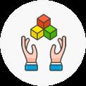 Hands framework color circle