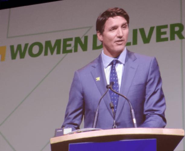 Justin Trudeau at Women Deliver