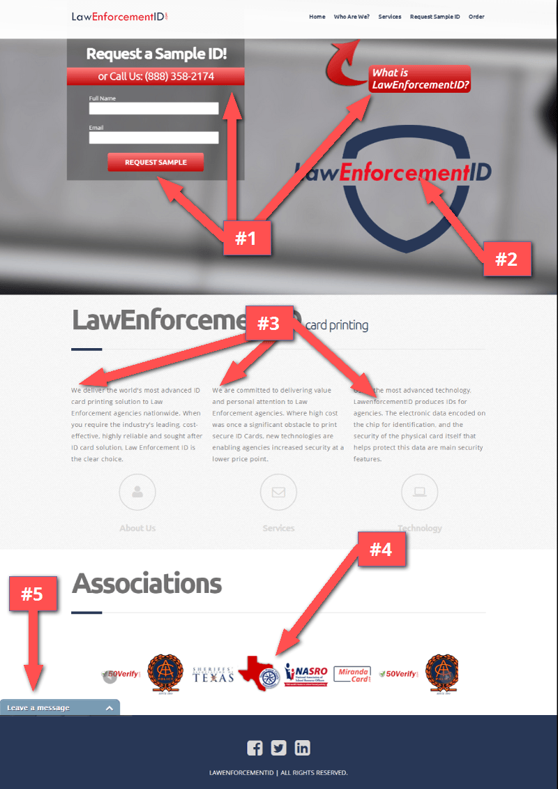 lawenforcementid_landing_page_review