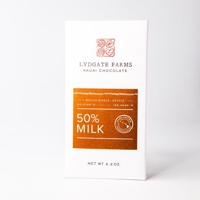 Lydgate Farms | 50% Milk Chocolate Bar