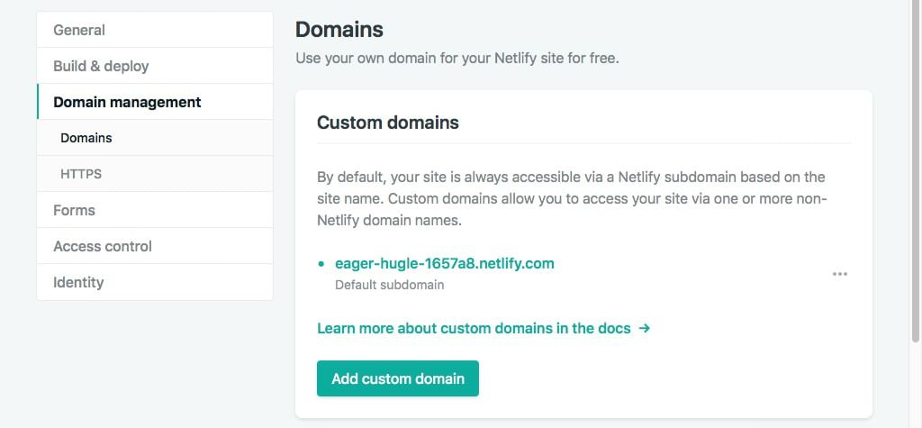Netlify Add Custom Domain 2