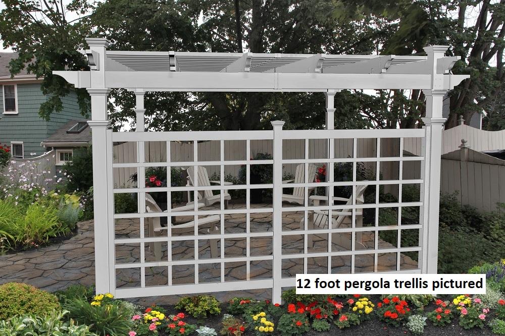 Pergola Privacy Trellis Image #3