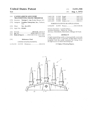 Empire Candelabrum and Light Transmitting Means Therefor Patent #3681588.pdf preview