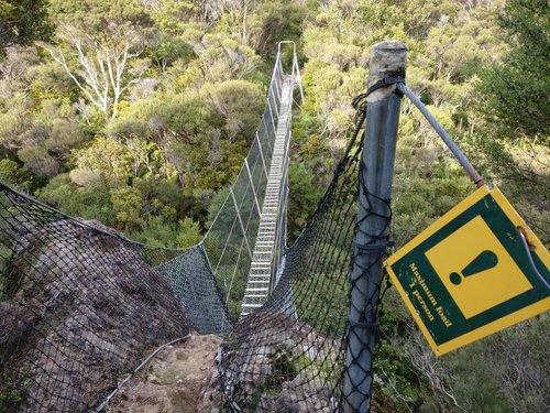 One person swing bridge
