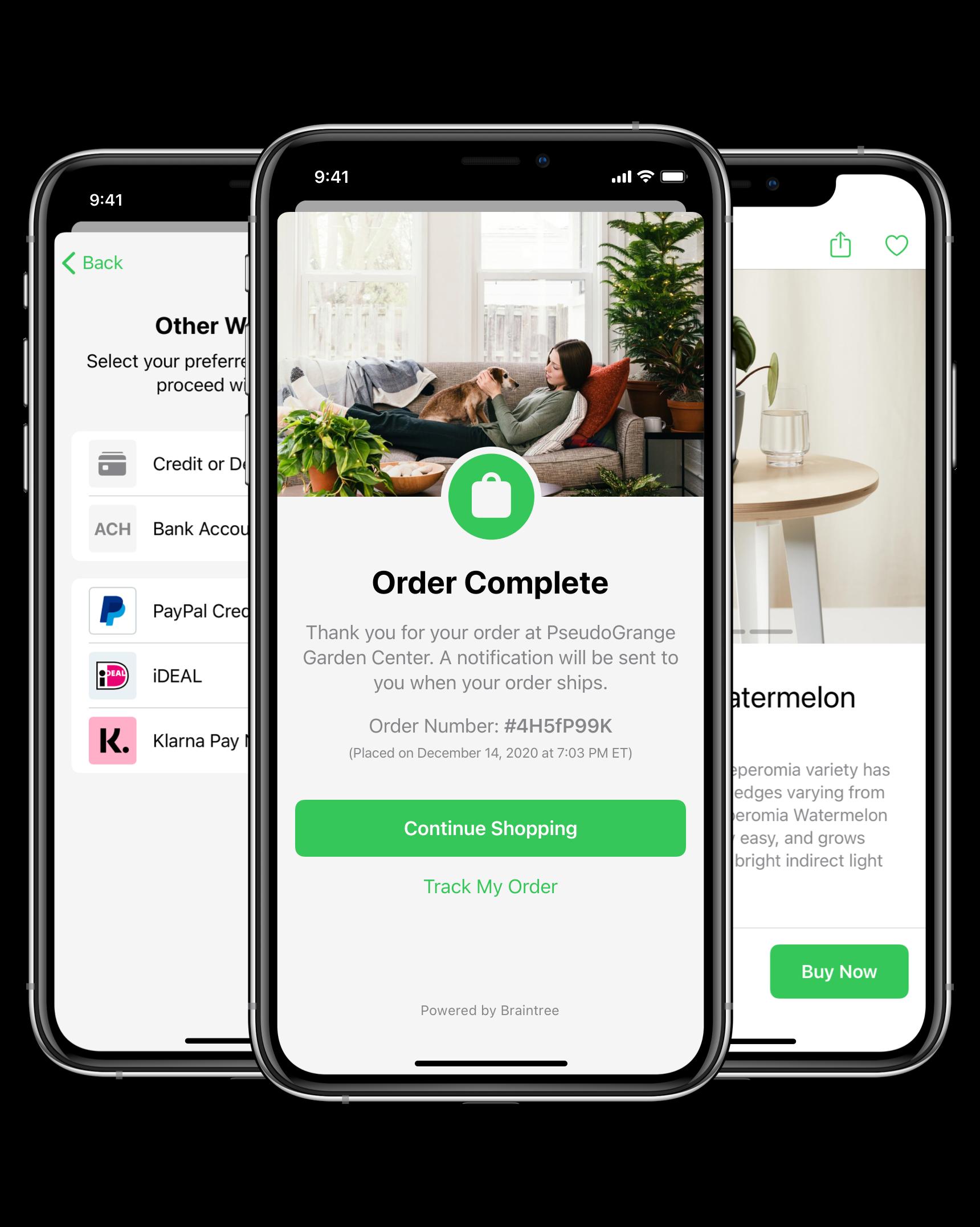 Braintree - Drop-In Native Customization Options - Green