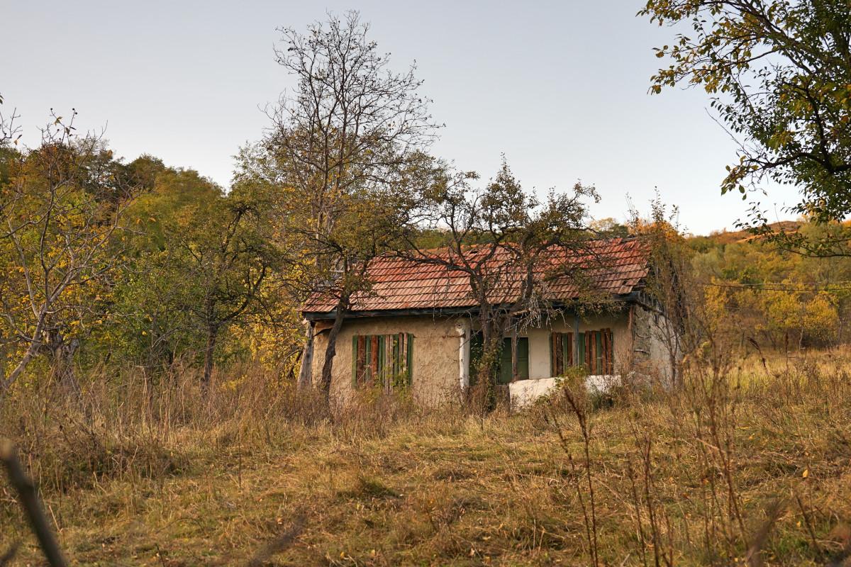 O casă părăsită din comuna Mânzălești
