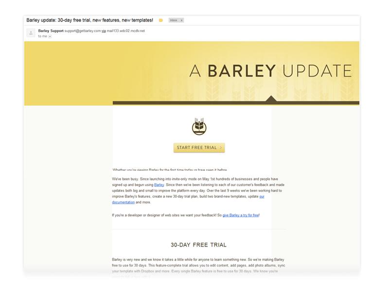 Barley Firefox Email
