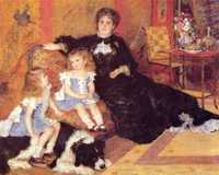 Renoir wanted to submit his portrait of 'Madame Georges Charpentier and Her Children' (1878) to the Salon and made the difficult decision to privilege the official exhibition over the Impressionists.