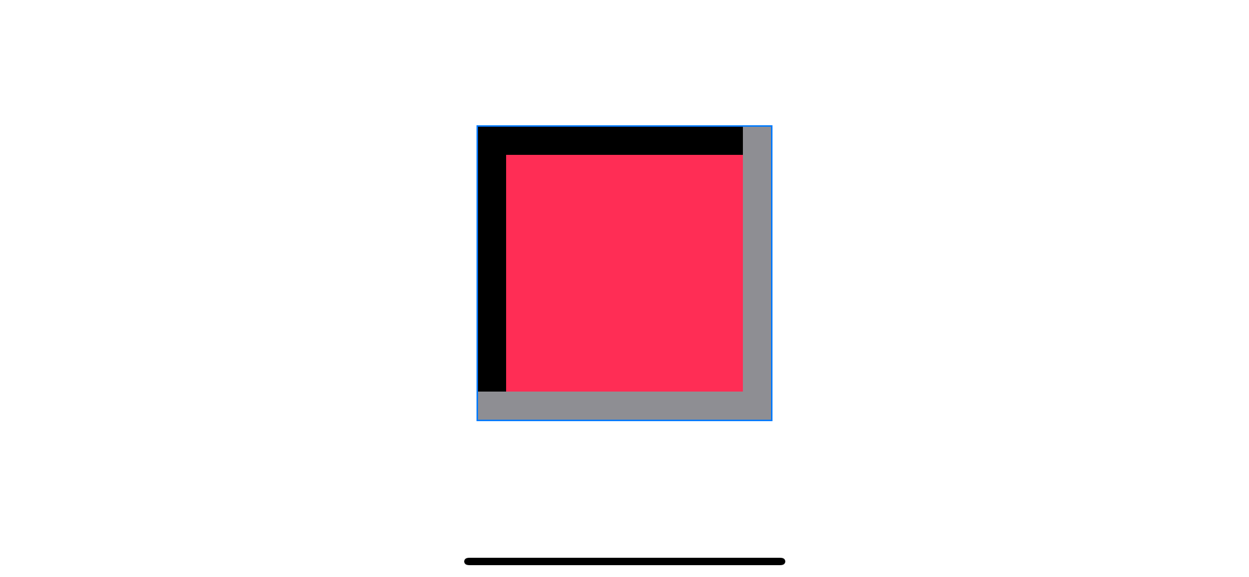 Add the second shadow at opposite edges.