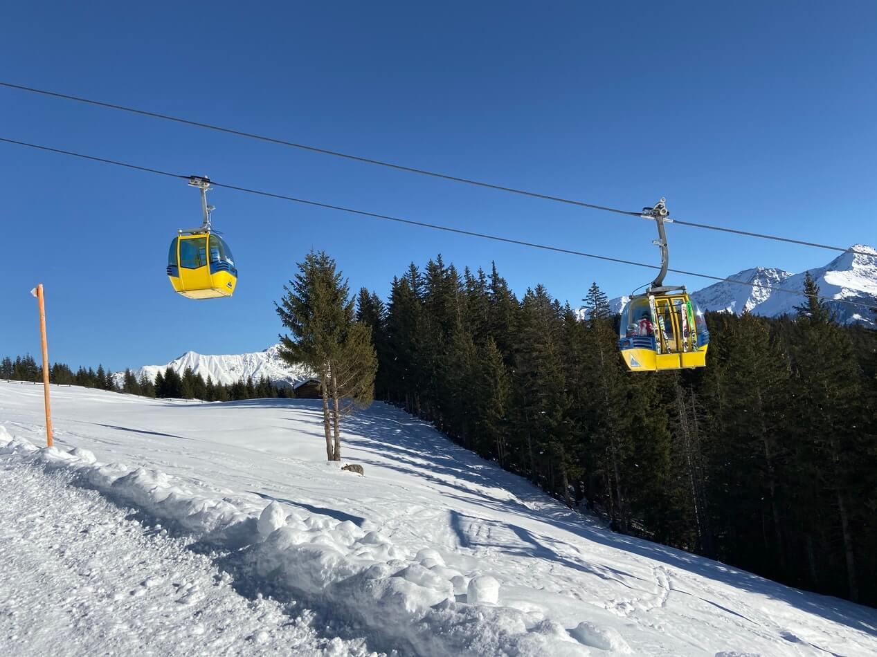 Cable car ski lift.
