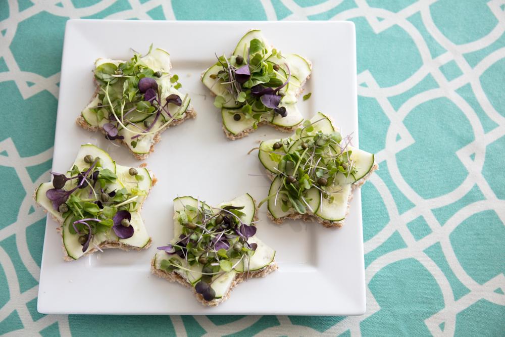 star-shaped vegan tea sandwiches