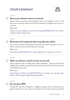 ICO Security Checklist page 1