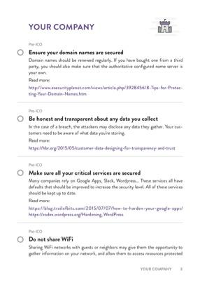 ICO Security Checklist page 1