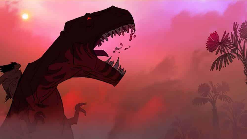 Cena de Primal, nova animação de Gendy Tartakovsky para o Adulta Swim