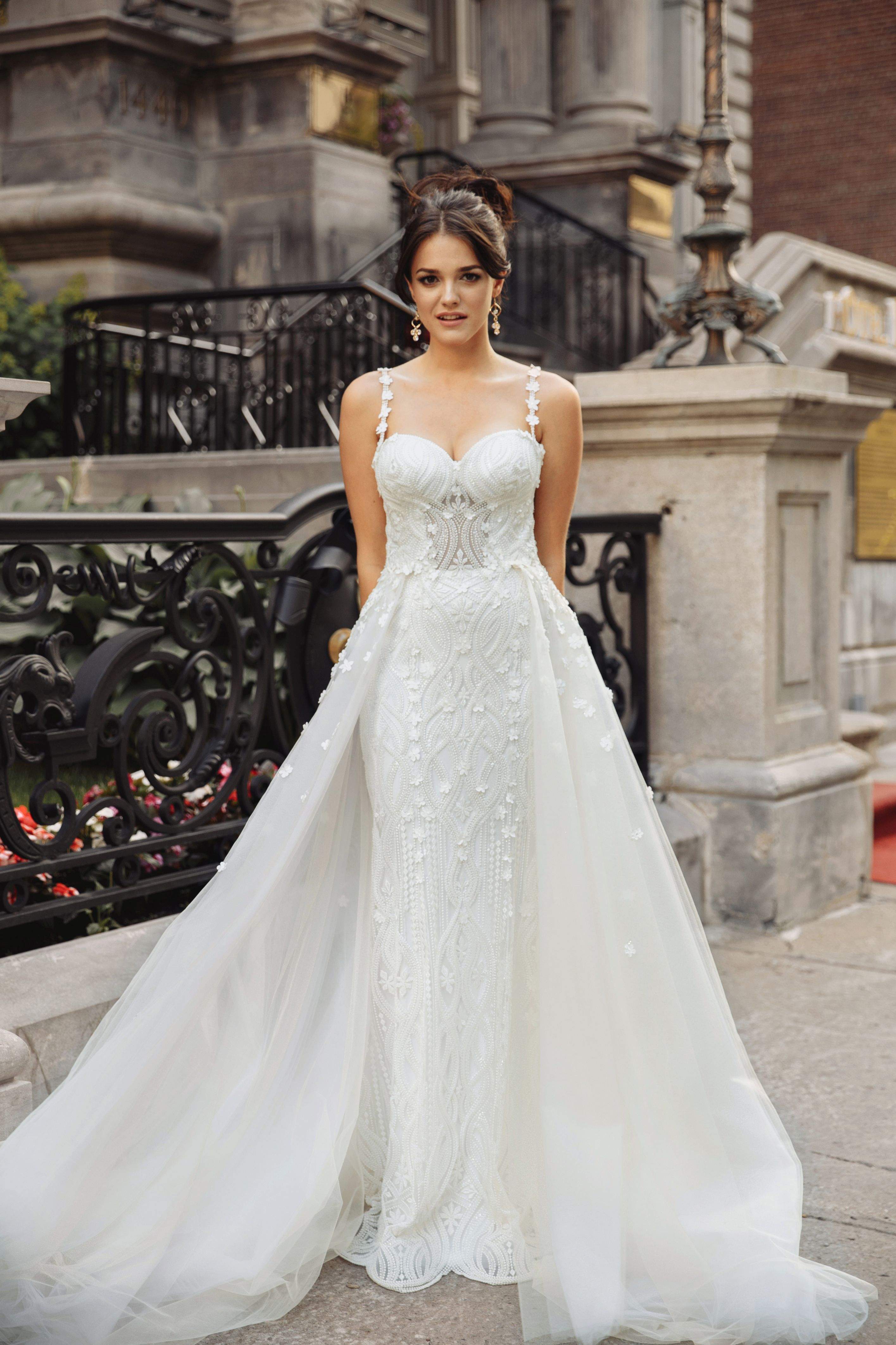 wedding gown removable skirt montreal exclusive custom wedding dresses lilia haute couture