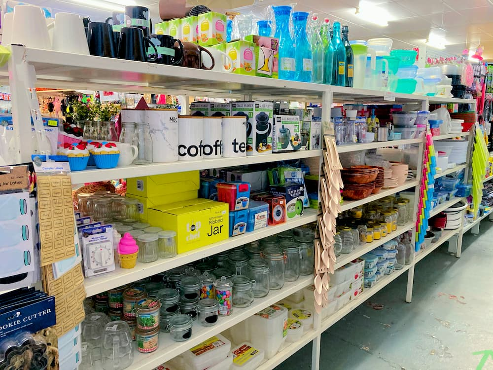 Coffee mugs, beer mugs, water bottles, and all sorts of food containers and jars.