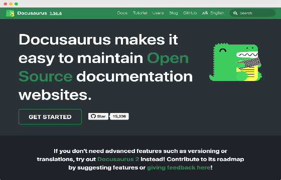 Webiste privew for docusaurus