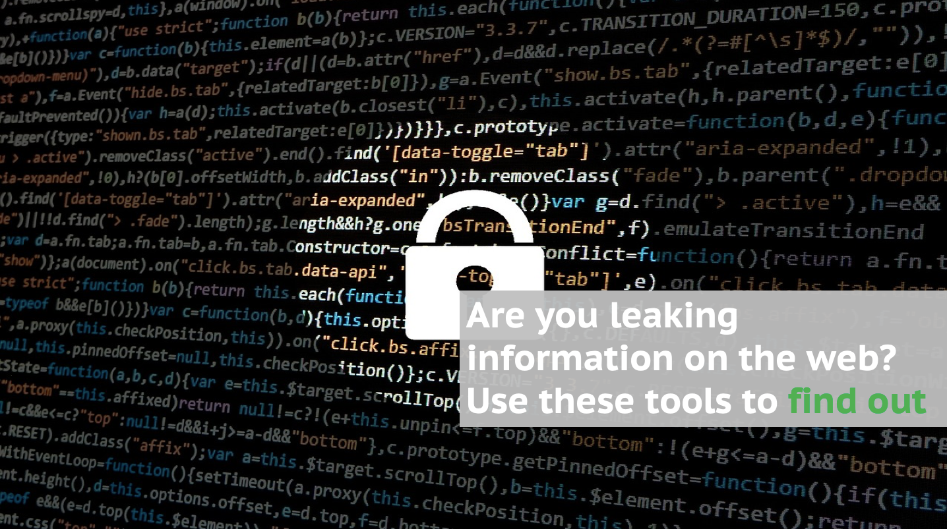 Are you leaking information on the web? Use these tools to find out