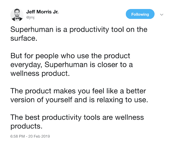 Tweet by Jeff Morris