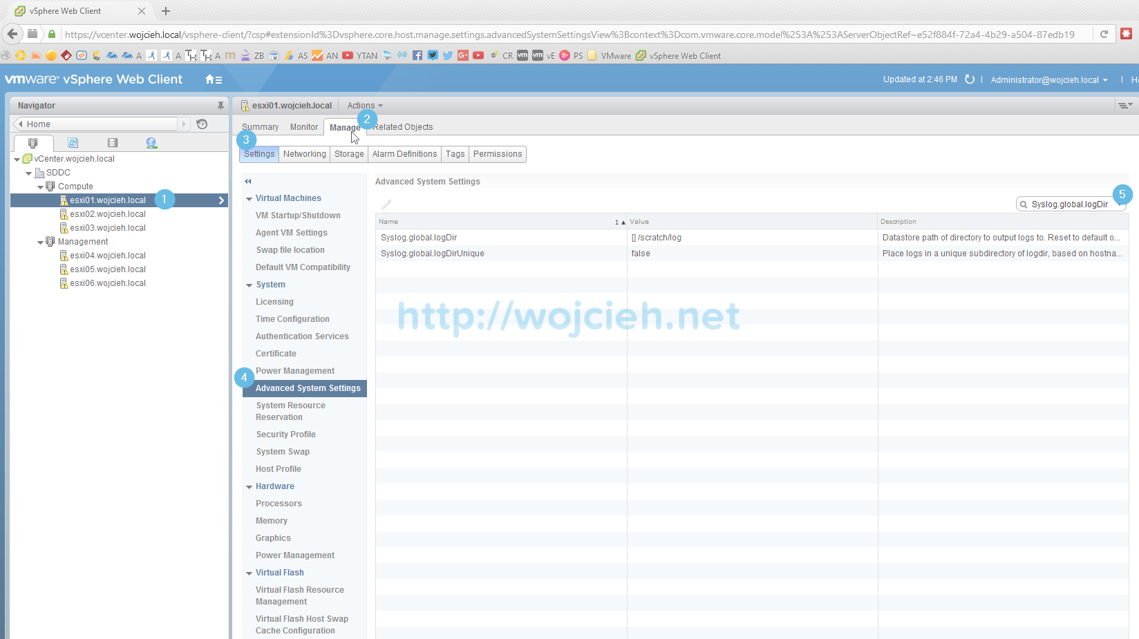 Change location of VMware ESXi System Logs to local or remote datastore - 2