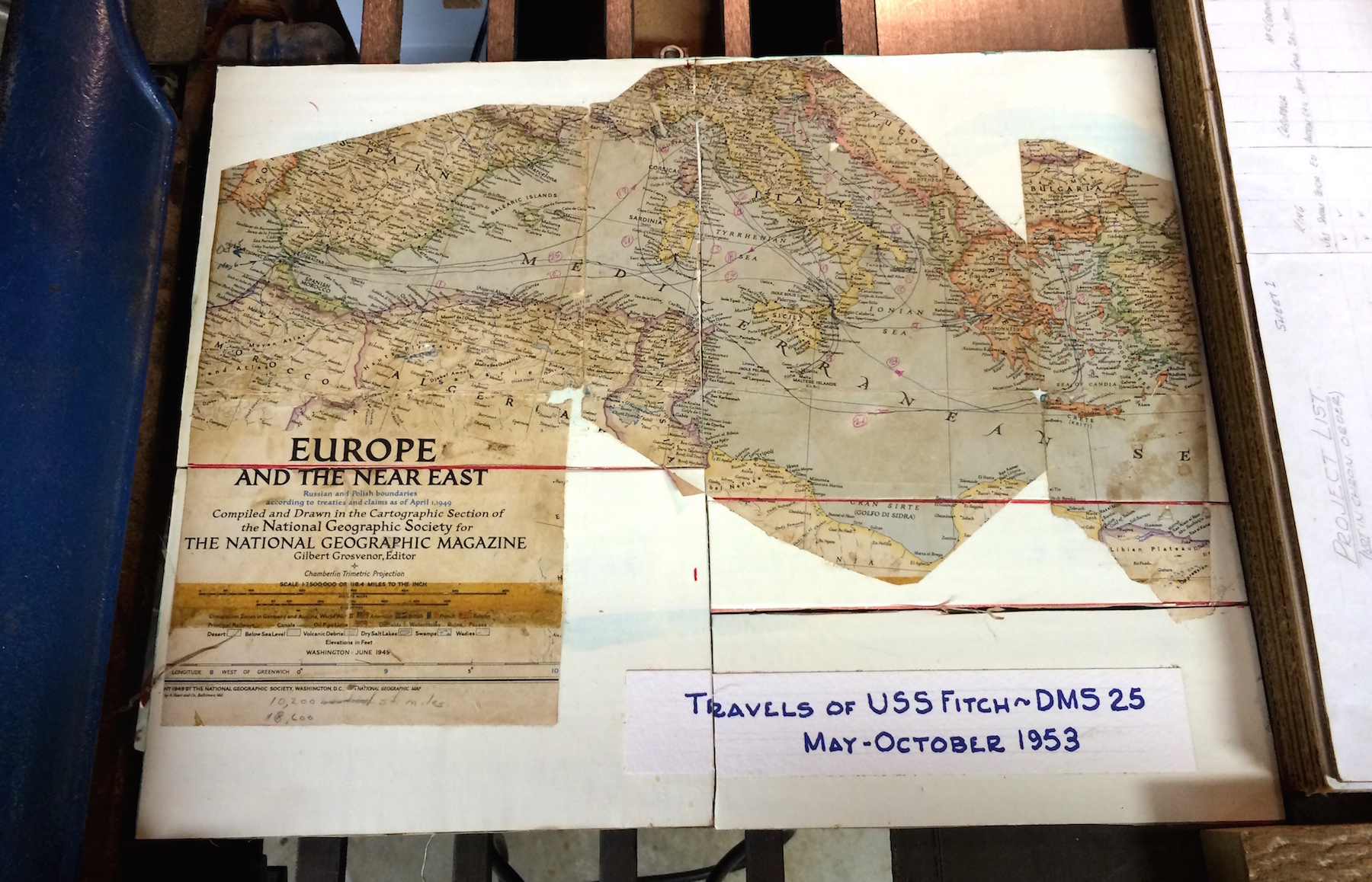 Travels of the USS Fitch