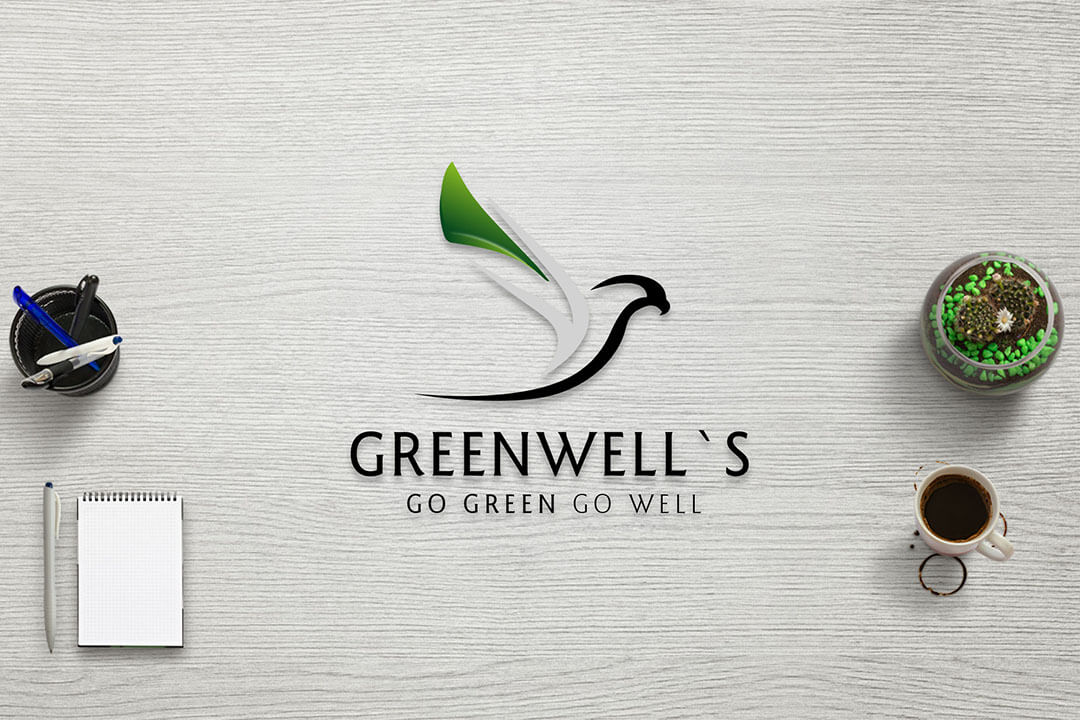 Project Green Well's,  Logo Graphic Design