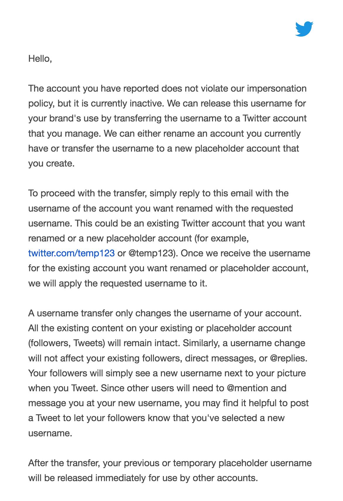 Userlist Twitter Team Response