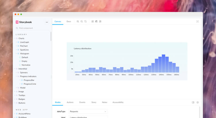 React Storybook 5 dashboard
