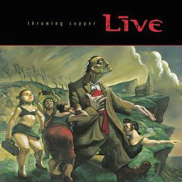 The album cover artwork for Live's Throwing Copper album