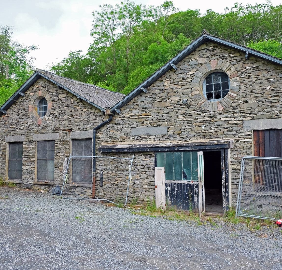 Photograph of the existing stone barns buildings which will be refurbished by From Works.