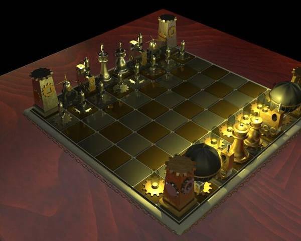 3D - Steampunk Chess