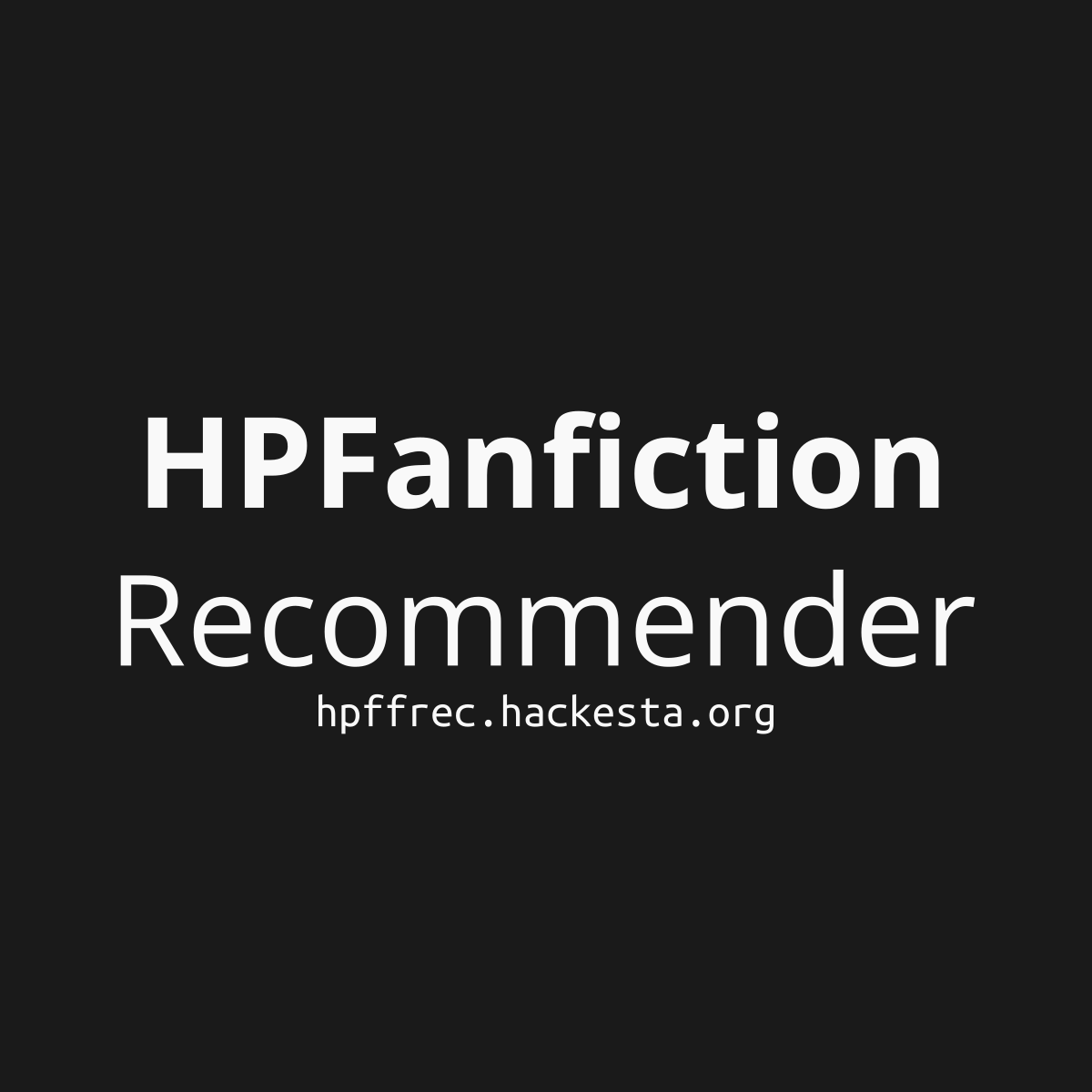 HPFanfiction Recommender