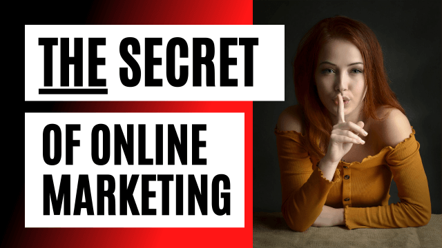The Secret Of Online Marketing Revealed