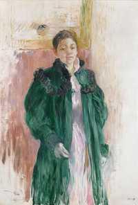 Jeune Fille au Manteau Vert by Berthe Morisot. Oil on canvas, c. 1894