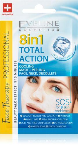 EVELINE FACE THERAPY 8IN1 TOTAL ACTION hűsítő hatású arcmaszk és arcradír 7 ml